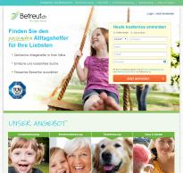 Screenshot von Betreut.ch