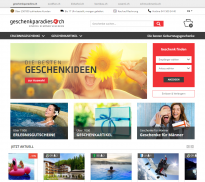 Screenshot von Geschenkparadies.ch