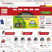 Screenshot von POPGOM.ch