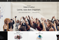 Screenshot von Apple Store